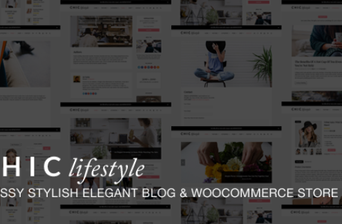 Chic Responsive Blog & WooCommerce WordPress Them
