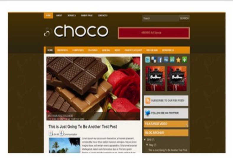 Choco Blogger Template best free high quality blog templates
