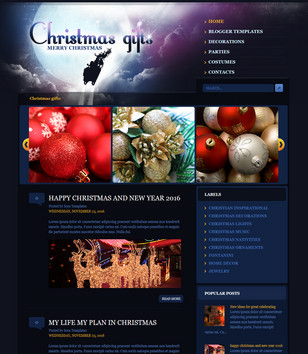 Christmas Gifts Blogger Templates