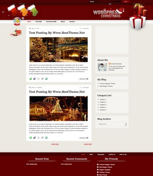 Christmas v1.1 Blogger Templates