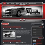 ChromeGT Red Blogger Templates