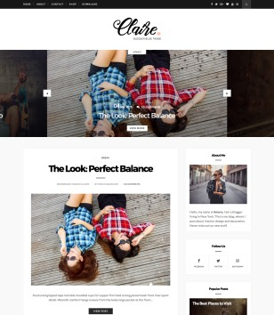 Claire Personal Blogger Templates