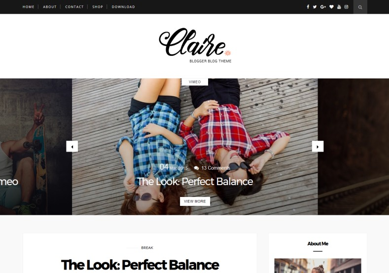 Claire Personal Blogger Template