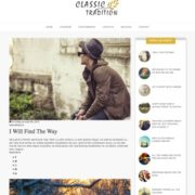 Classic Tradition Blogger Templates