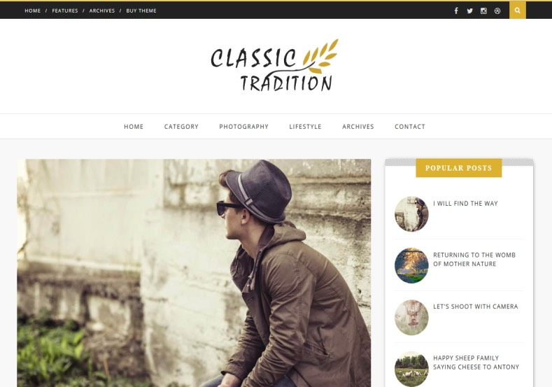 Classic Tradition Blogger Template. Blogger Themes. Free Blogspot templates for your blogger blog. Best suitable for news blog templates. Ads ready blogspot templates help for add adsense ad code and easily showing adsence ads in your blog. Adapted from WordPress templates are converted from WordPress themes. It is help for take your rich. Blogger magazine template specially designed for magazine blogs. The writers can utilize this themes for take blog attractive to users. Elegant themes are more used themes in most of the blogs. Minimalist blog templates. Free premium blogger themes means, themes authors release two types of themes. One is premium another one is free. Premium templates given for cost but free themes given for no cost. You no need pay From California, USA. $10 USD, or $20 USD and more. But premium buyers get more facilities from authors But free buyers. If you run game or other animation oriented blogs, and you can try with Anime blog templates. Today the world is fashion world. So girls involve to the criteria for make their life fashionable. So we provide fashion blogger themes for make your fashionable. News is most important concept of the world. Download news blogger templates for publishing online news. You can make your blog as online shopping store. Get Online shopping store blogger template to sell your product. Navigation is most important to users find correct place. Download drop down menu, page navigation menu, breadcrumb navigation menu and vertical dropdown menu blogspot themes for free. Google Guide. Blogging tips and Tricks for bloggers. Google bloggers can get blogspot trick and tips for bloggers. Blog templates portfolio professional blogspot themes, You can store your life moments with your blogs with personal pages templates. Video and movie blogs owners get amazing movie blog themes for their blogs.  Business templates download. We publish blogger themes for photographers.  Photographers easily share photos via photography blog themes. St valentine Christmas Halloween templates. Download Slideshow slider templates for free.  Under construction coming soon custom blogspot template. Best beautiful high quality Custom layouts Blog templates from templateism, soratemplates, templatetrackers, simple, cute free premium professional unique designs blog themes blogspot themes. Seo ready portfolio anime fashion movie movies health custom layouts best download blogspot themes simple cute free premium professional unique designs xml html code html5.