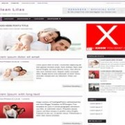 Clean Lilas blogger template