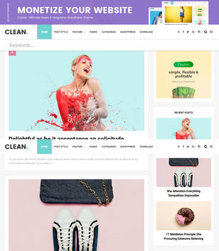 Clean Minimal Blogger Templates