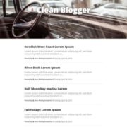 Clean Simple Blogger Templates