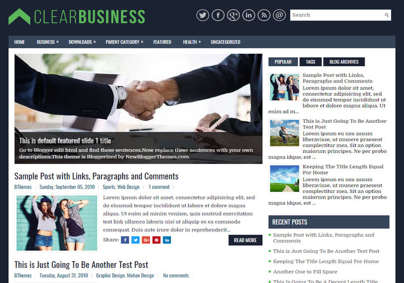 Clear business blogger template blogspot templates 2018 clear business blogger template cheaphphosting Images