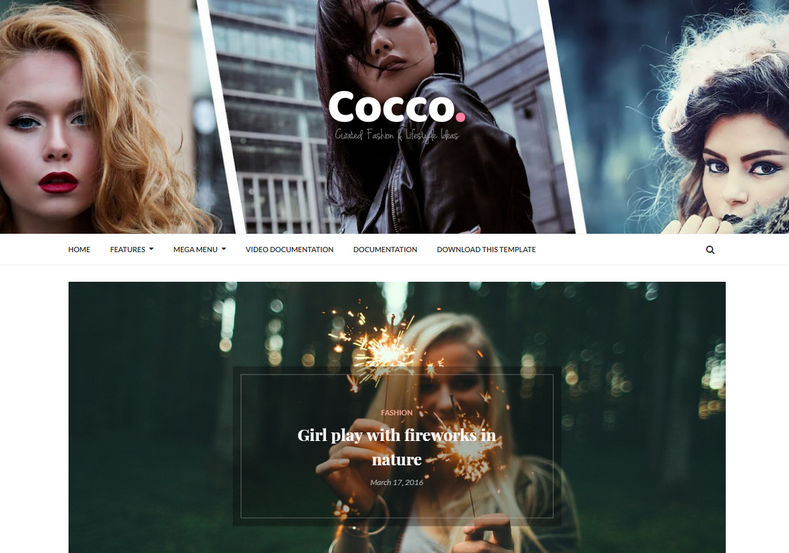 Cocco Blogger Template is a responsive as well as stylish and attractive fast loading blogging theme that is perfectly built for fashion and OOTD blogs.