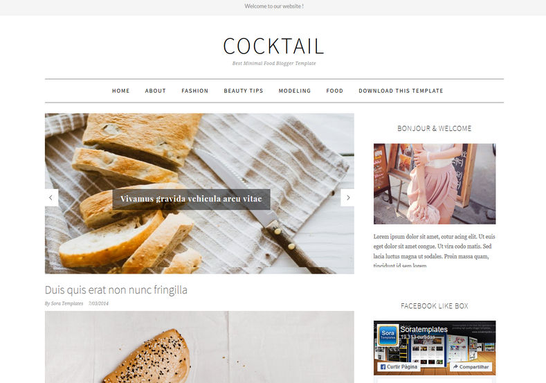 CockTail Blogger Template great looking magazine and minimalist blogger templates 2018