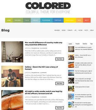 Colored Blogger Templates