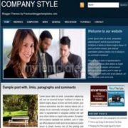 Company Style Blue Blogger Templates