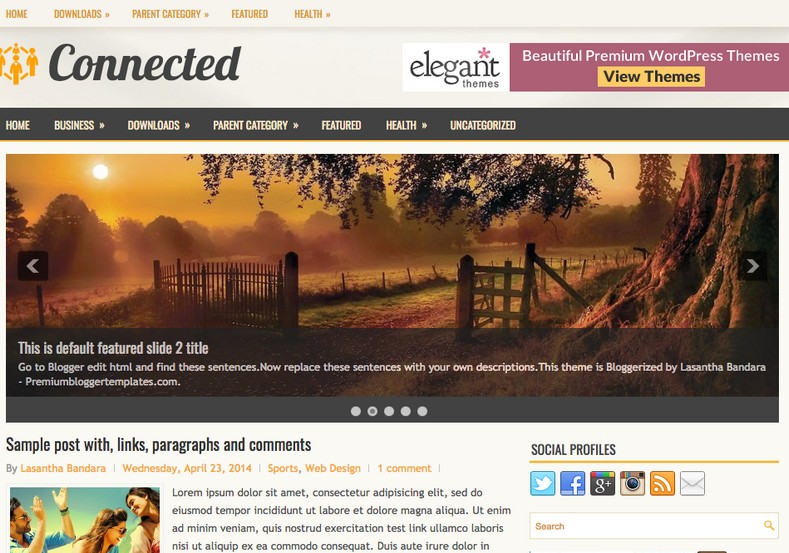 Connected Blogger Template. Blogger templates 2015. Free blogger templates. blogspot themes