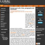 Coral Blogger Templates