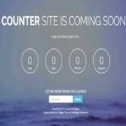 Counter coming soon Blogger Templates