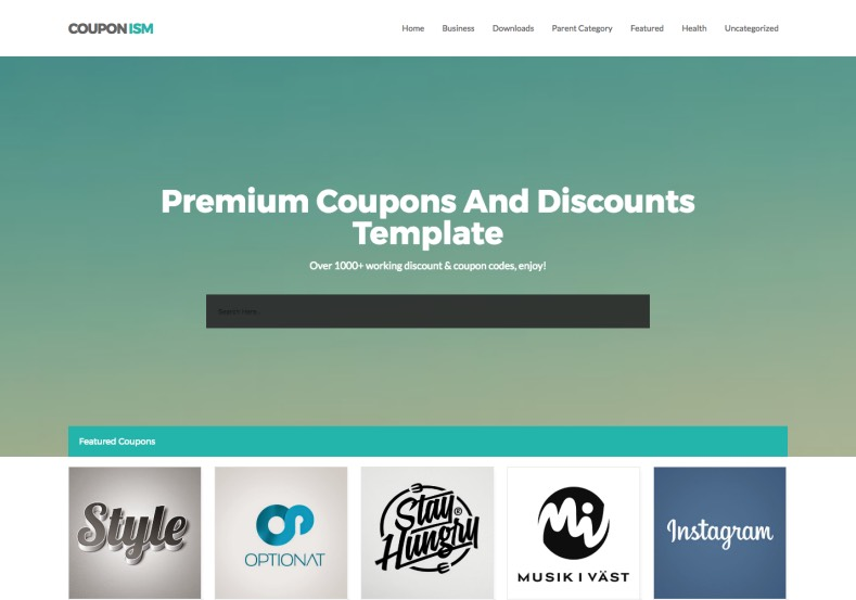 Couponism Blogger Template. Free download blogger templates for 2015