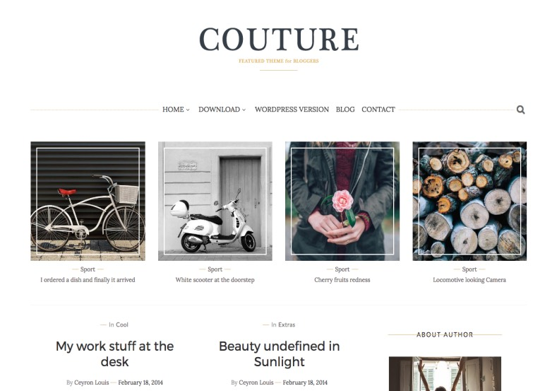 Couture Blogger Template. Amazing designed and elegant template for blogger blog. Download magazine and high quality blogger templates from gooyaabi templates. Couture Blogger Template.