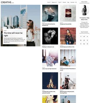 Creative Blog Blogger Templates