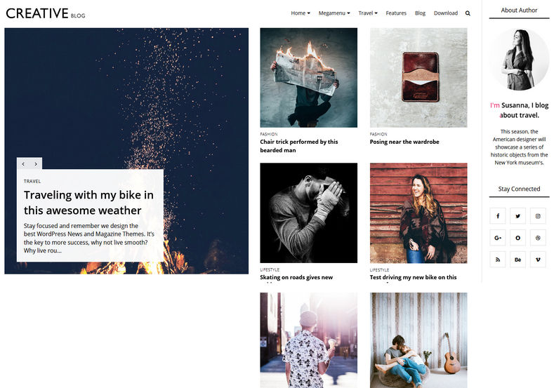 Creative Blog Blogger Template is a customisable unique fashion theme specially prepare for ladies bloggers and fashion lovers