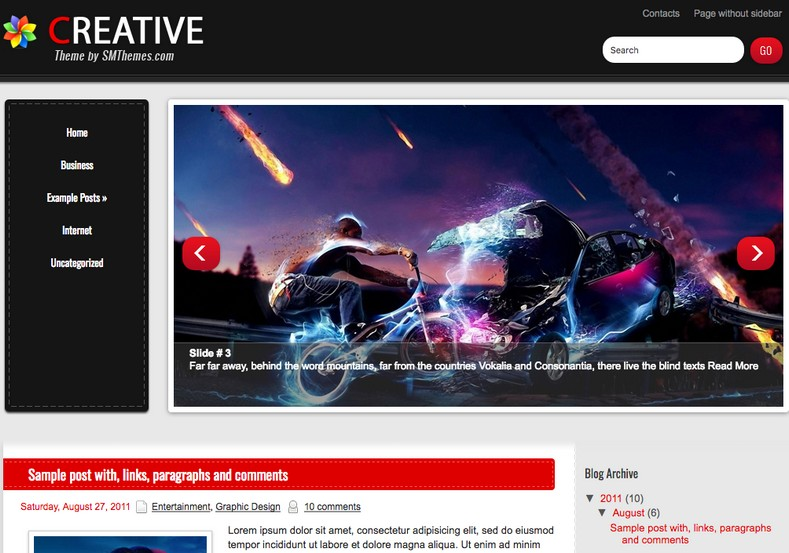 Creative Blogger Template free download