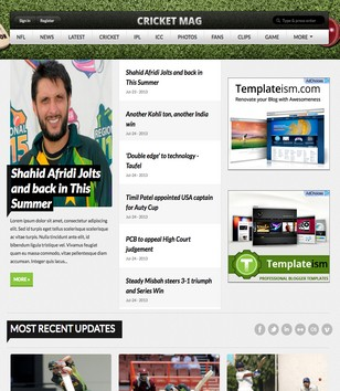 Cricket Mag Blogger Templates