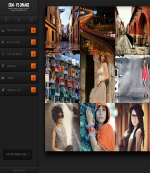 DCM V2 Orange Responsive Blogger Templates