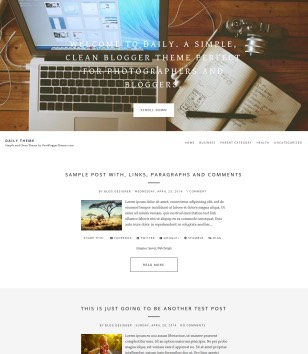 Daily Theme Blogger Templates