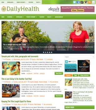 DailyHealth Blogger Templates