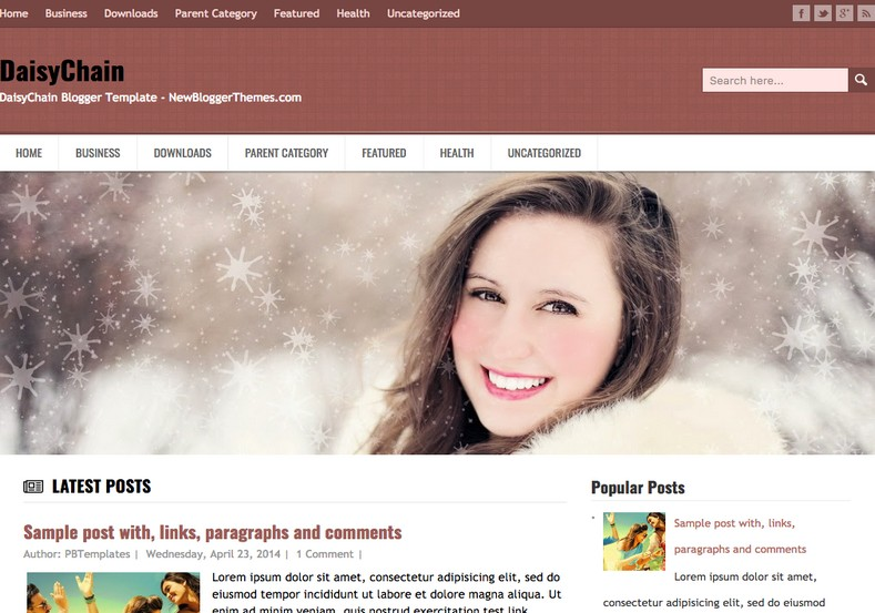 DaisyChain Blogger Template. Blogger templates 2015. Free blogger templates. blogspot themes