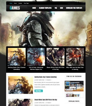 Dark Mag Games Blogger Templates