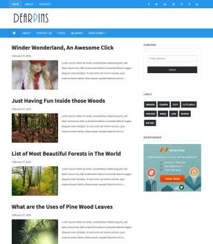 Dearpins Blogger Templates
