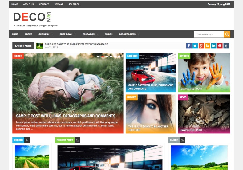 Deco Mag Blogger Template