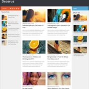 Decorus Responsive Blogger Templates