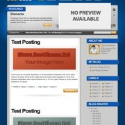 Deep Blue Blogger Templates