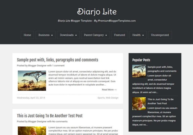 film press release template - diarjo lite simple blogger template blogspot templates 2018