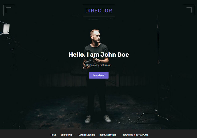 Director Blogger Template is a stylish looking feature rich, high performance one page blogging latest generation blogspot theme.