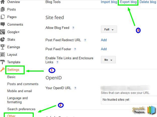 Download Blogger Blog
