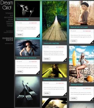 Dream Grid Responsive Blogger Templates