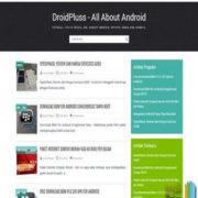 DroidPluss Responsive Blogger Templates