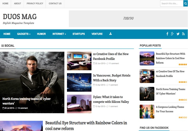 Duos Mag Blogger Template. Free blogger templates download for your blog. Best blogger templates 2015. Duos Mag Blogger Template.