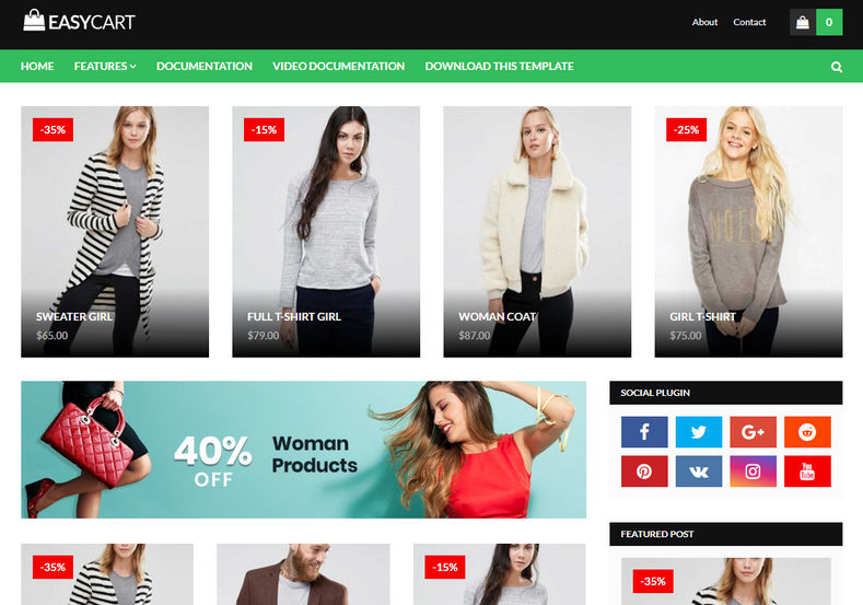 Easy Cart Blogger Template is an professional and responsive easy to setup fast loadingshopping blogger template