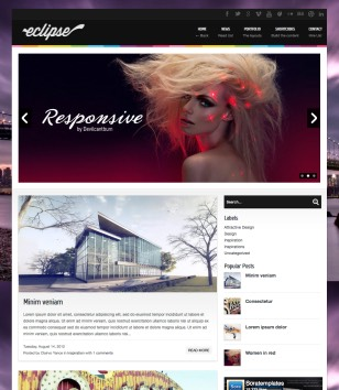 Eclipse Blogger Template 2014 Free Download