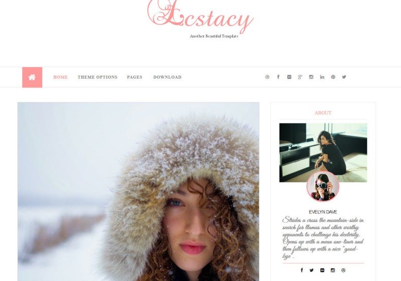 Ecstacy Blogger Template. 2015 Ecstacy Blogger Template free