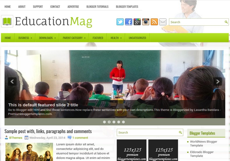 take what you need template - educationmag blogger template blogspot templates 2018