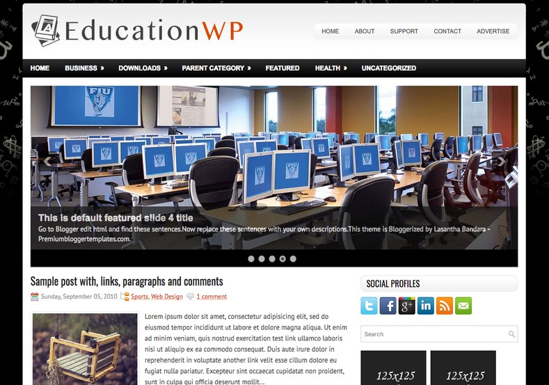 EducationWP Blogger Template. Blogger Themes. Free Blogspot templates for your blogger blog. Best suitable for news blog templates. Ads ready blogspot templates help for add adsense ad code and easily showing adsence ads in your blog. Adapted from WordPress templates are converted from WordPress themes. It is help for take your rich. Blogger magazine template specially designed for magazine blogs. The writers can utilize this themes for take blog attractive to users. Elegant themes are more used themes in most of the blogs. Use minimalist blog templates for rich look for your blog. Free premium blogger themes means, themes authors release two types of themes. One is premium another one is free. Premium templates given for cost but free themes given for no cost. You no need pay From California, USA. $10 USD, or $20 USD and more. But premium buyers get more facilities from authors But free buyers. If you run game or other animation oriented blogs, and you can try with Anime blog templates. Today the world is fashion world. So girls involve to the criteria for make their life fashionable. So we provide fashion blogger themes for make your fashionable. News is most important concept of the world. Download news blogger templates for publishing online news. You can make your blog as online shopping store. Get Online shopping store blogger template to sell your product. Navigation is most important to users find correct place. Download drop down menu, page navigation menu, breadcrumb navigation menu and vertical dropdown menu blogspot themes for free. Google Guide to blogging tips and tricks for bloggers. Google bloggers can get blogspot trick and tips for bloggers. Blog templates portfolio professional blogspot themes, You can store your life moments with your blogs with personal pages templates. Video and movie blogs owners get amazing movie blog themes for their blogs. Business templates download. We publish blogger themes for photographers. Photographers easily share photos via photography blog themes. St valentine Christmas Halloween templates. Download Slideshow slider templates for free. Under construction coming soon custom blogspot template. Best beautiful high quality Custom layouts Blog templates from templateism, SoraTemplates, templatetrackers, simple, cute free premium professional unique designs blog themes blogspot themes. Seo ready portfolio anime fashion movie movies health custom layouts best download blogspot themes simple cute free premium professional unique designs xml html code html5.