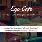 Ego Cafe Responsive Blogger Templates