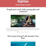 Eighties Responsive Blogger Templates