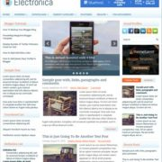 Electronica Blogger Templates