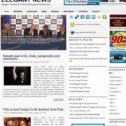 Elegant News Blogger Templates